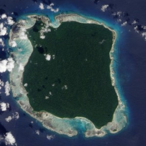 North Sentinel Island picture from above