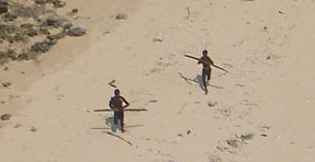 Sentinelese from helicopter